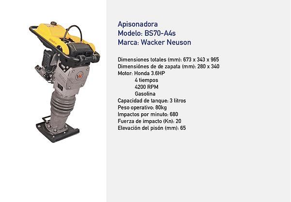 Bailarina Compactadora Wacker BS70