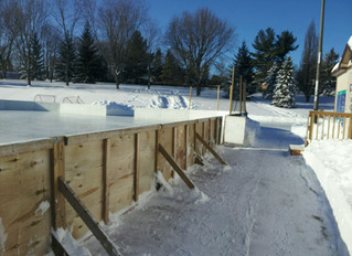 Outdoor rink is open Monday, January 20th!