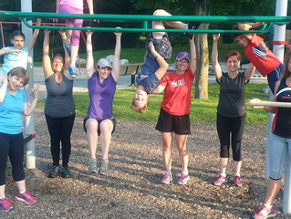 Thursday morning Workouts in the Park are done - thank you Shelley!