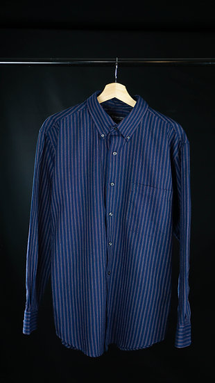 Vintage St John Bay Blue & Red Stripe Shirt