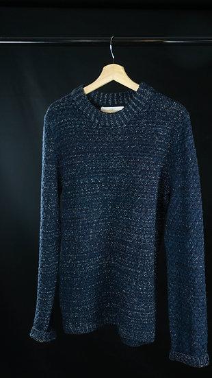 L.O.G.G Blue & White Crew Neck Sweater