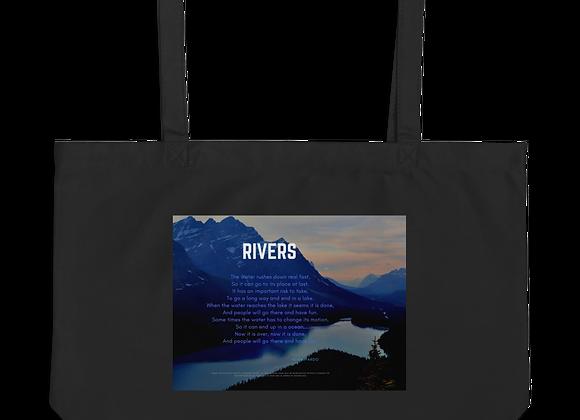 """""""Rivers"""" Large organic Tote Bag"""