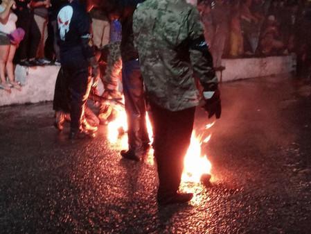 Nejapa: The street is on fire