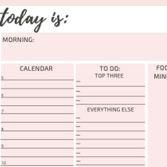 A5 Daily Page per Day Planner Insert