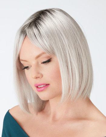 grey wig, synthetic wig