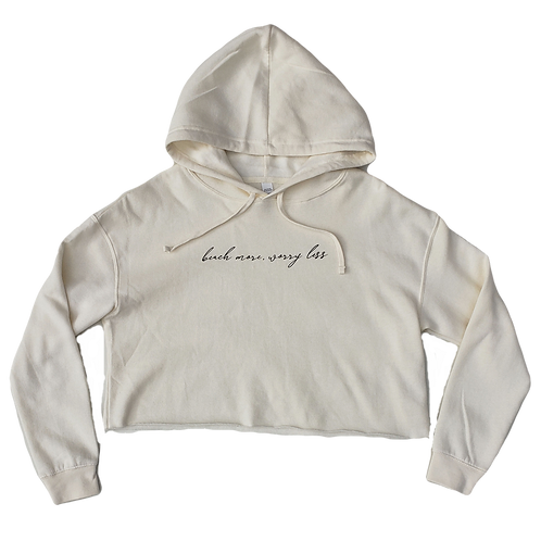 Beach More, Worry Less Cropped Hoodie