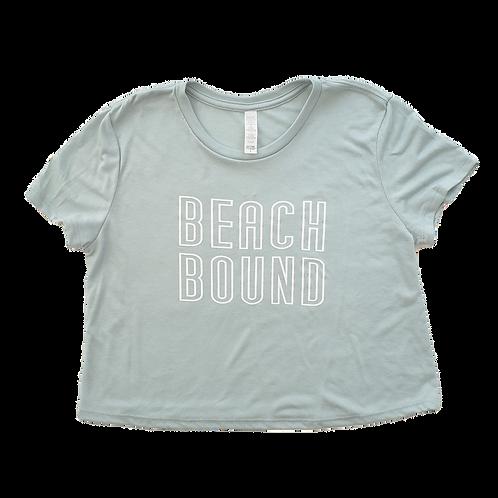Beach Bound Flowy Crop Tee