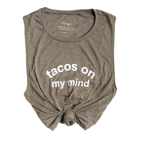 Tacos On My Mind Muscle Tank