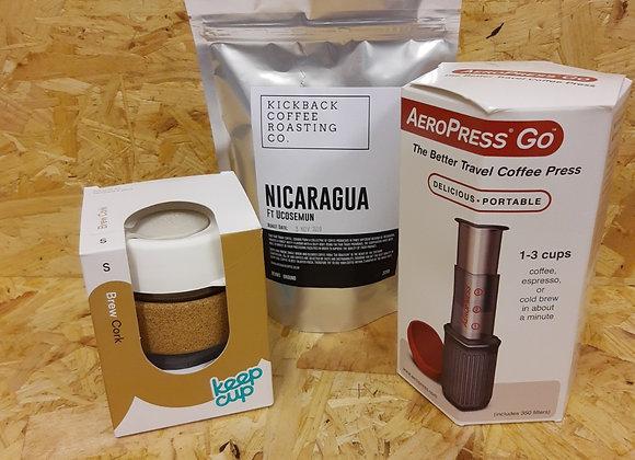 Aeropress + Cup + Coffee Combo
