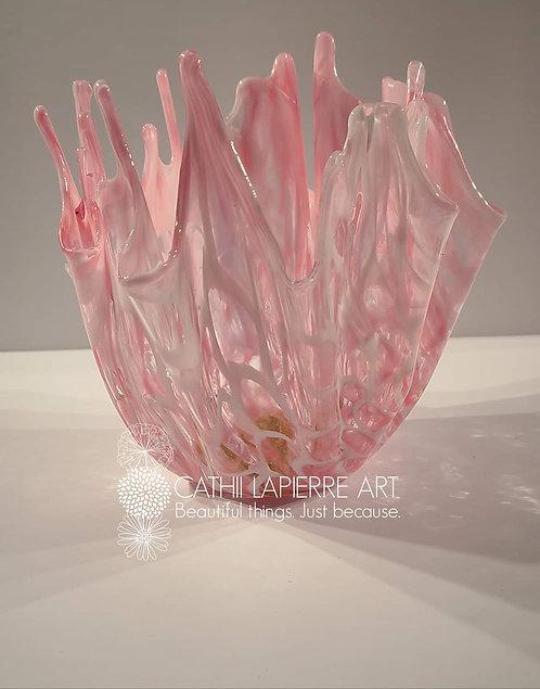 Pink freeform bowl