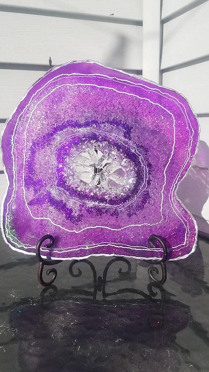 """Geode Decor """"Violet Lights"""""""