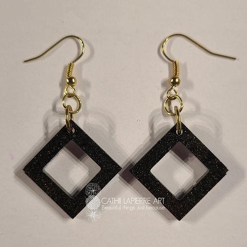 Black Shimmer Squares