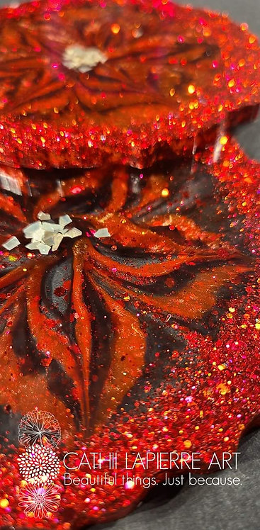 Red Sparkle Flowers
