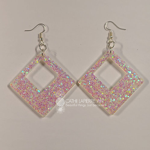 Unicorn Diamond shape Earrings