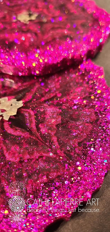 Hot Pink Sparkle Flowers