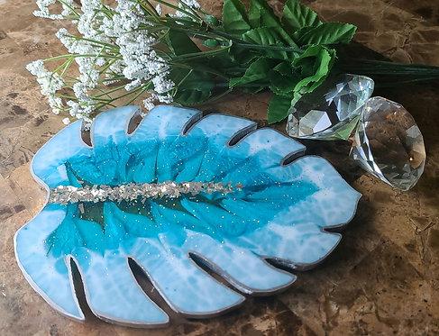 Blue Monstera Leaf tray