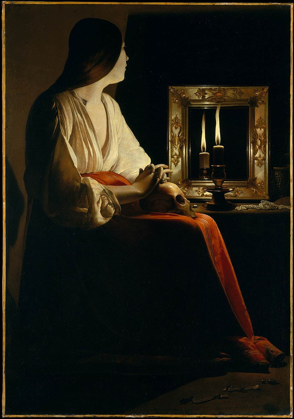 Madalena Penitente (1640) | Georges de La Tour (1593-1652)