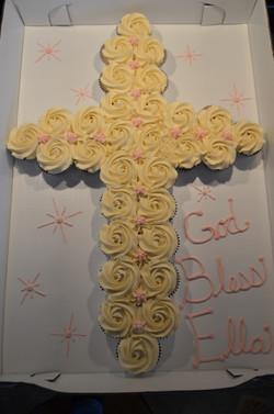 Pink Cross CC Cake
