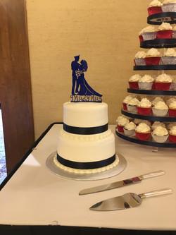 Wedding 2 tier Cake