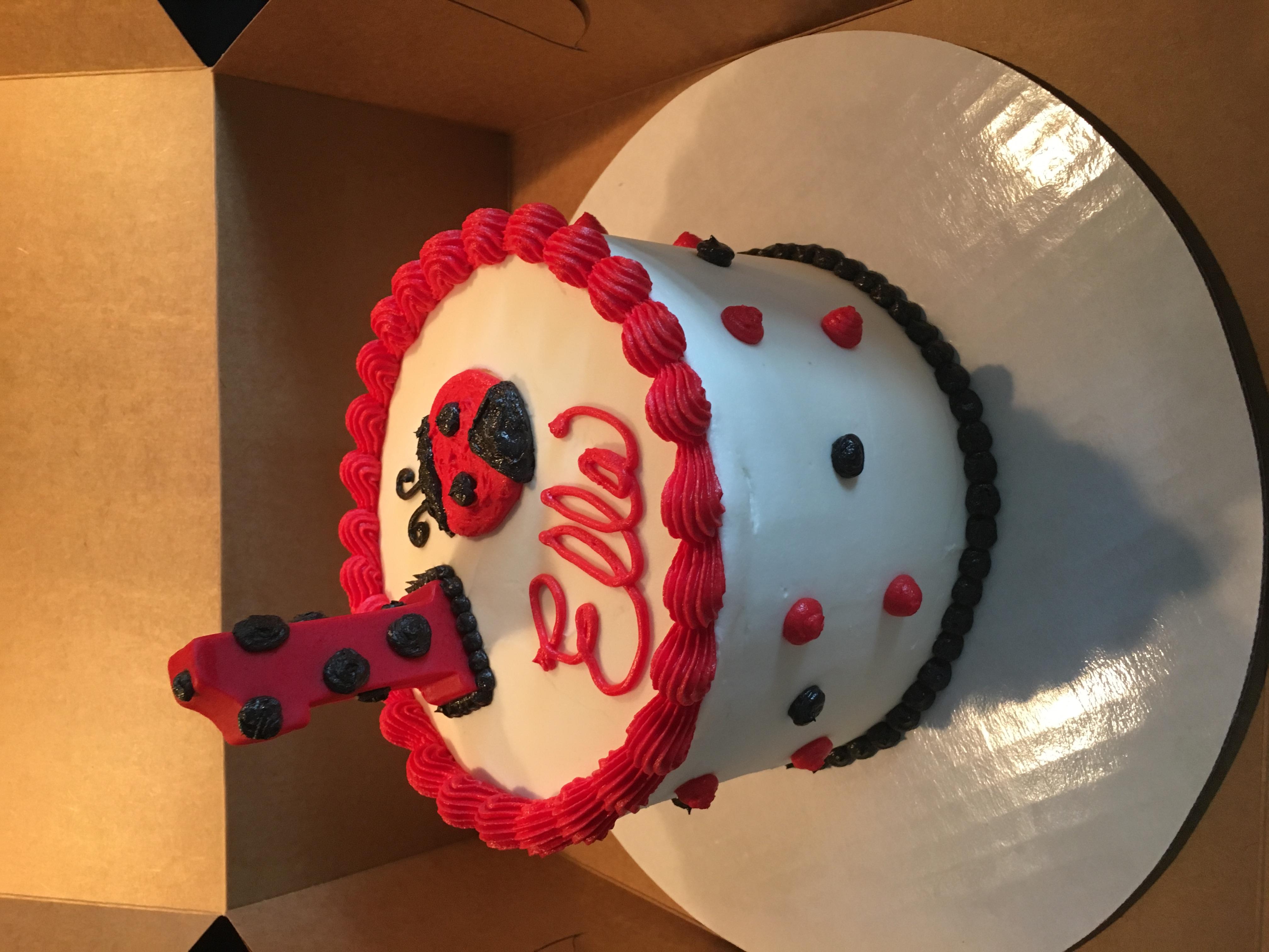 Ladybug cake with 1