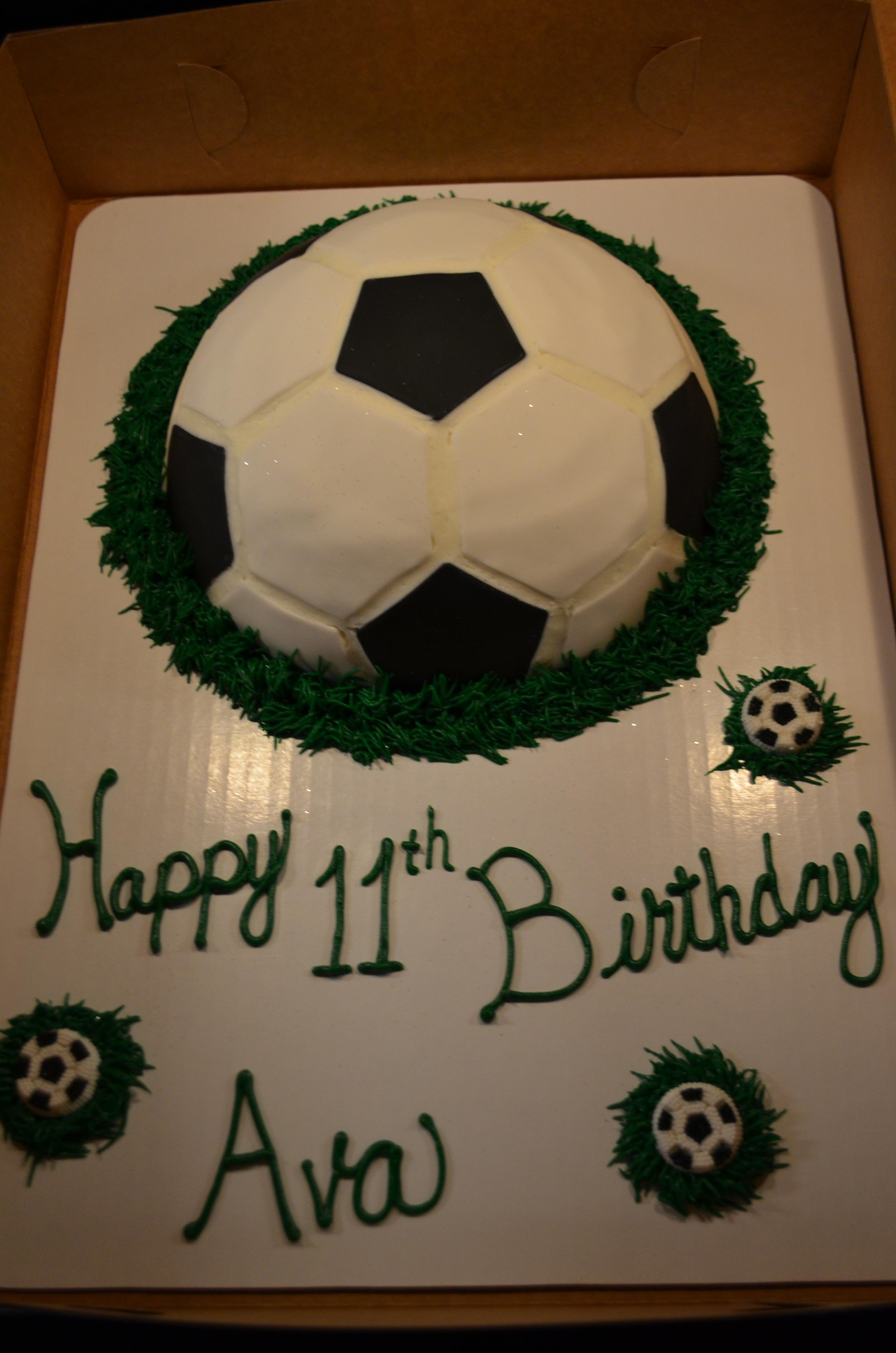 Fondant Soccer Cake 2