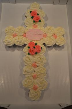 Pink Roses Cross CC Cake