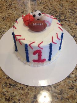 Sports Smash Cake