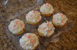 Pink Accent Cupcakes