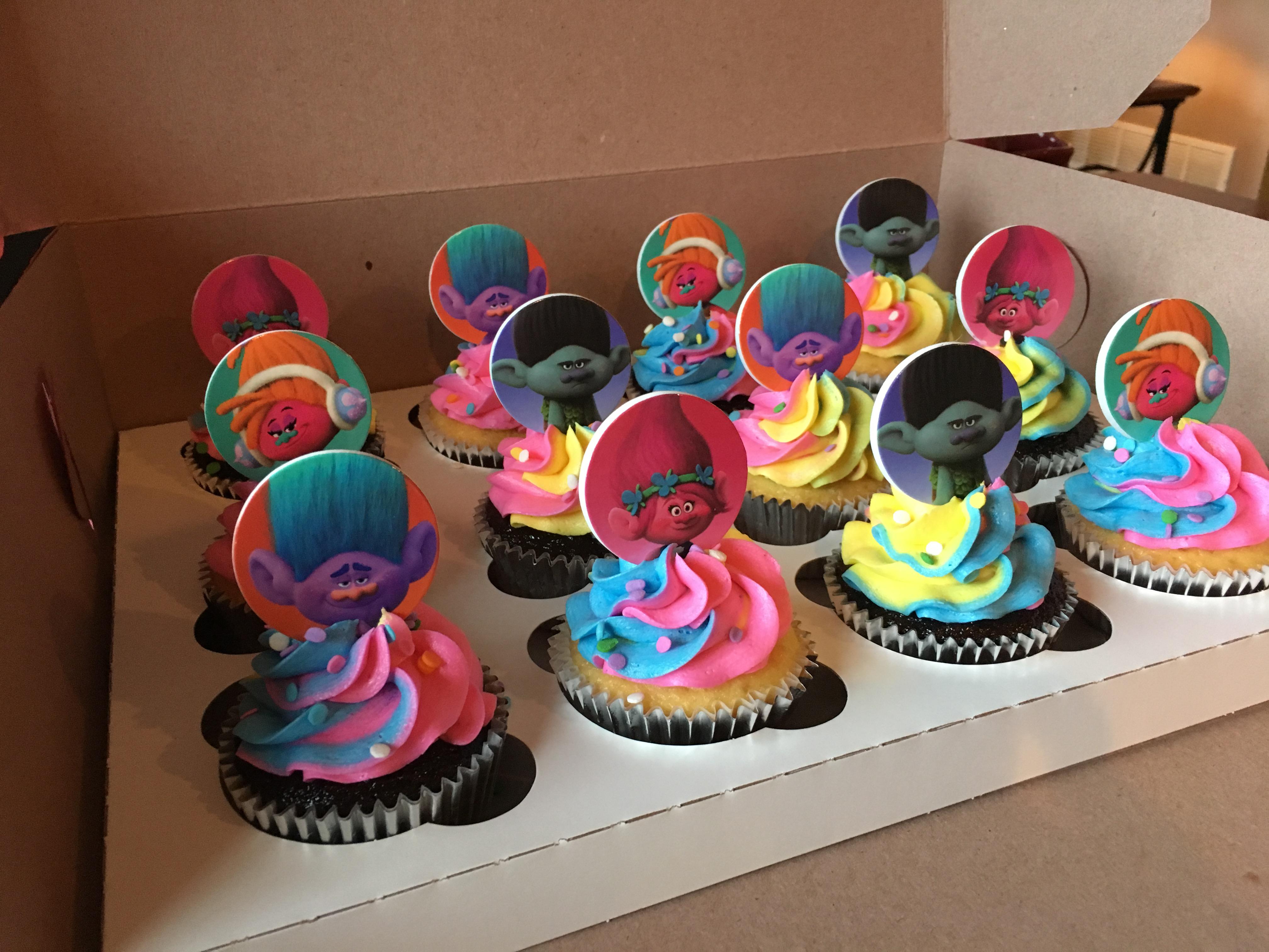 Trolls Cupcakes