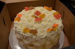 Fall Rosettes Cake