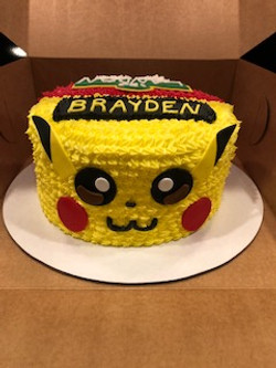 Pokemon Cake Half