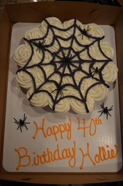 Spider Web CC Cake