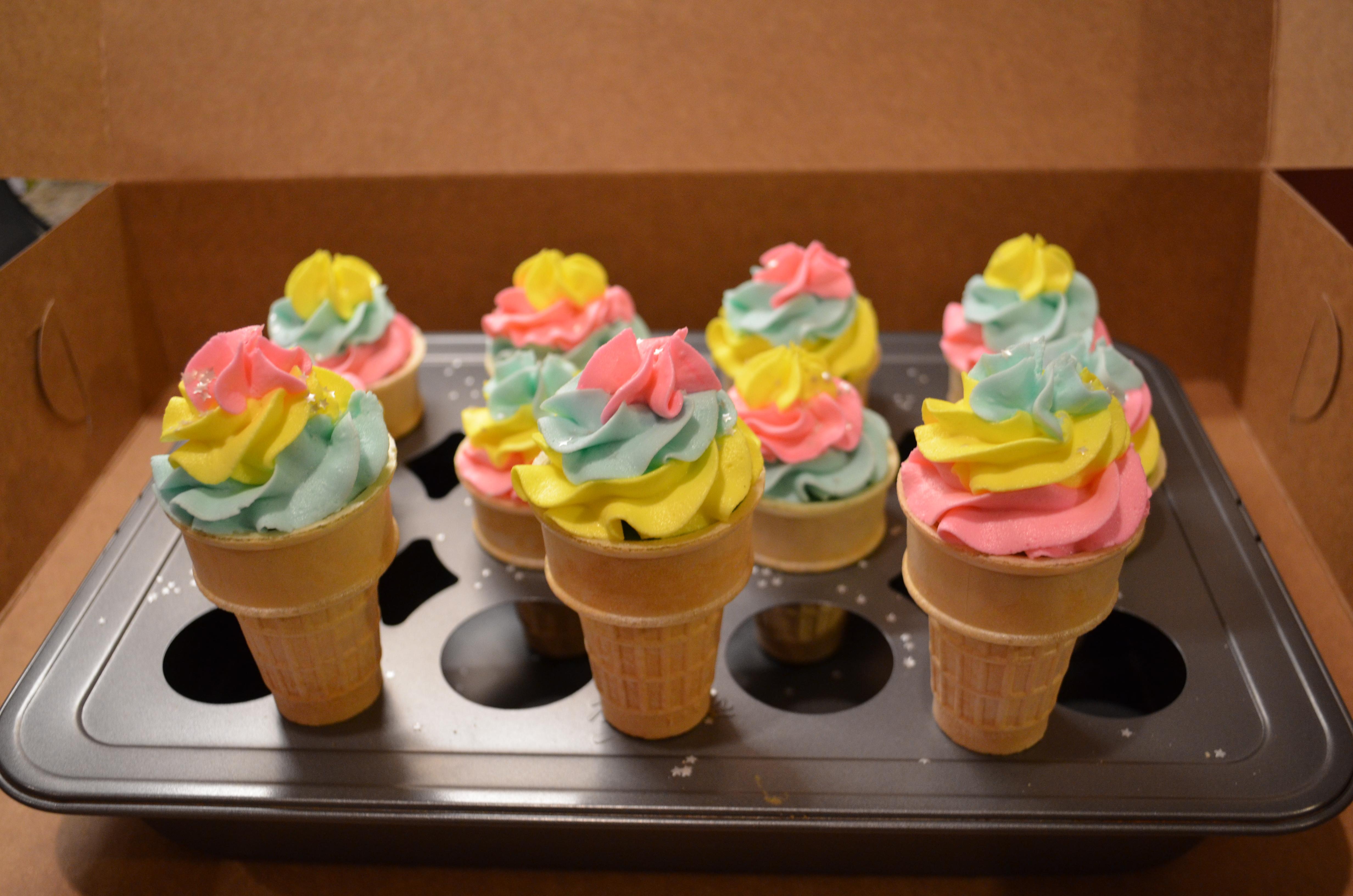 Rainbow Ice Cream Cones 2