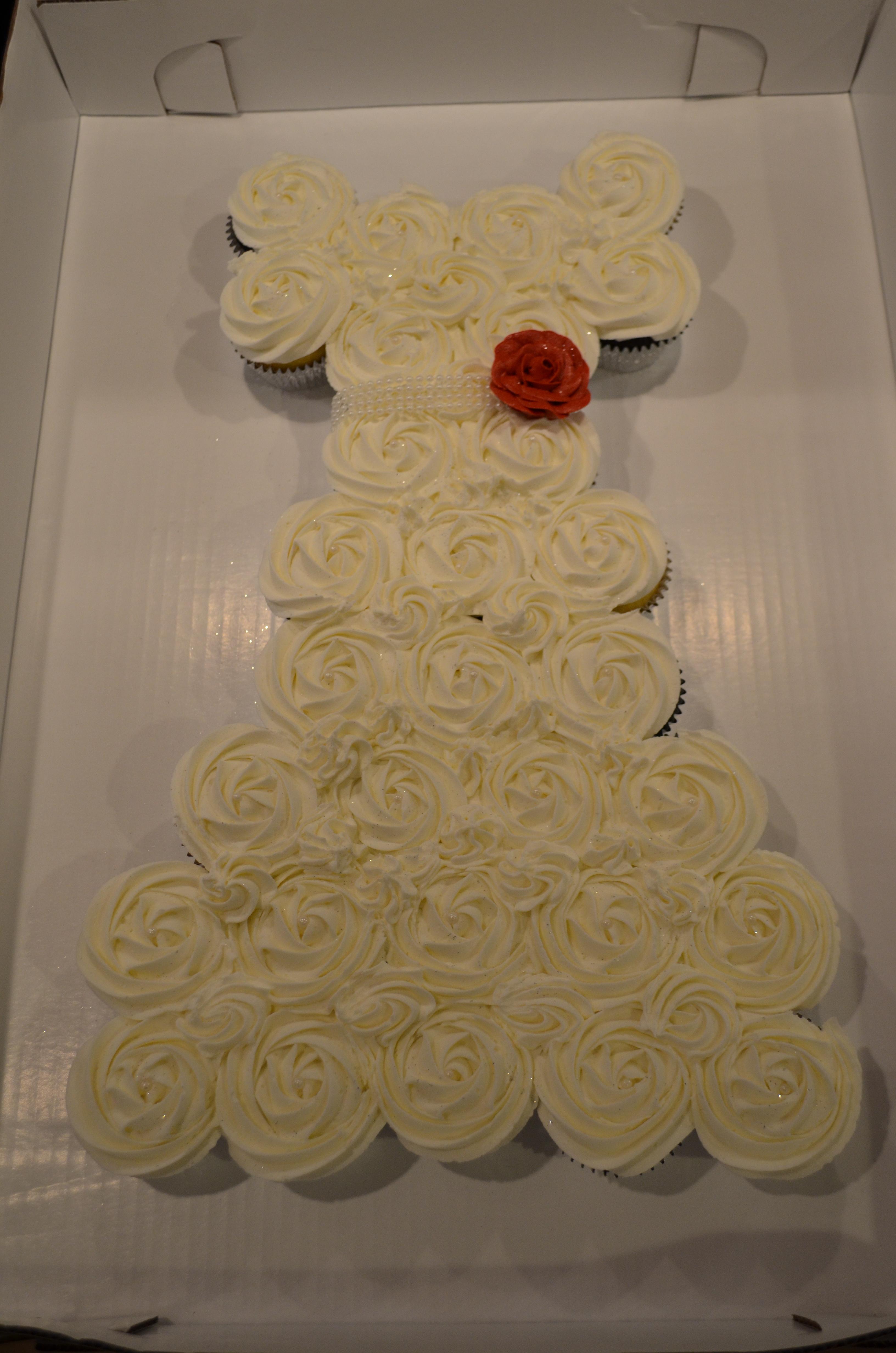 Wedding Dress Red Rose