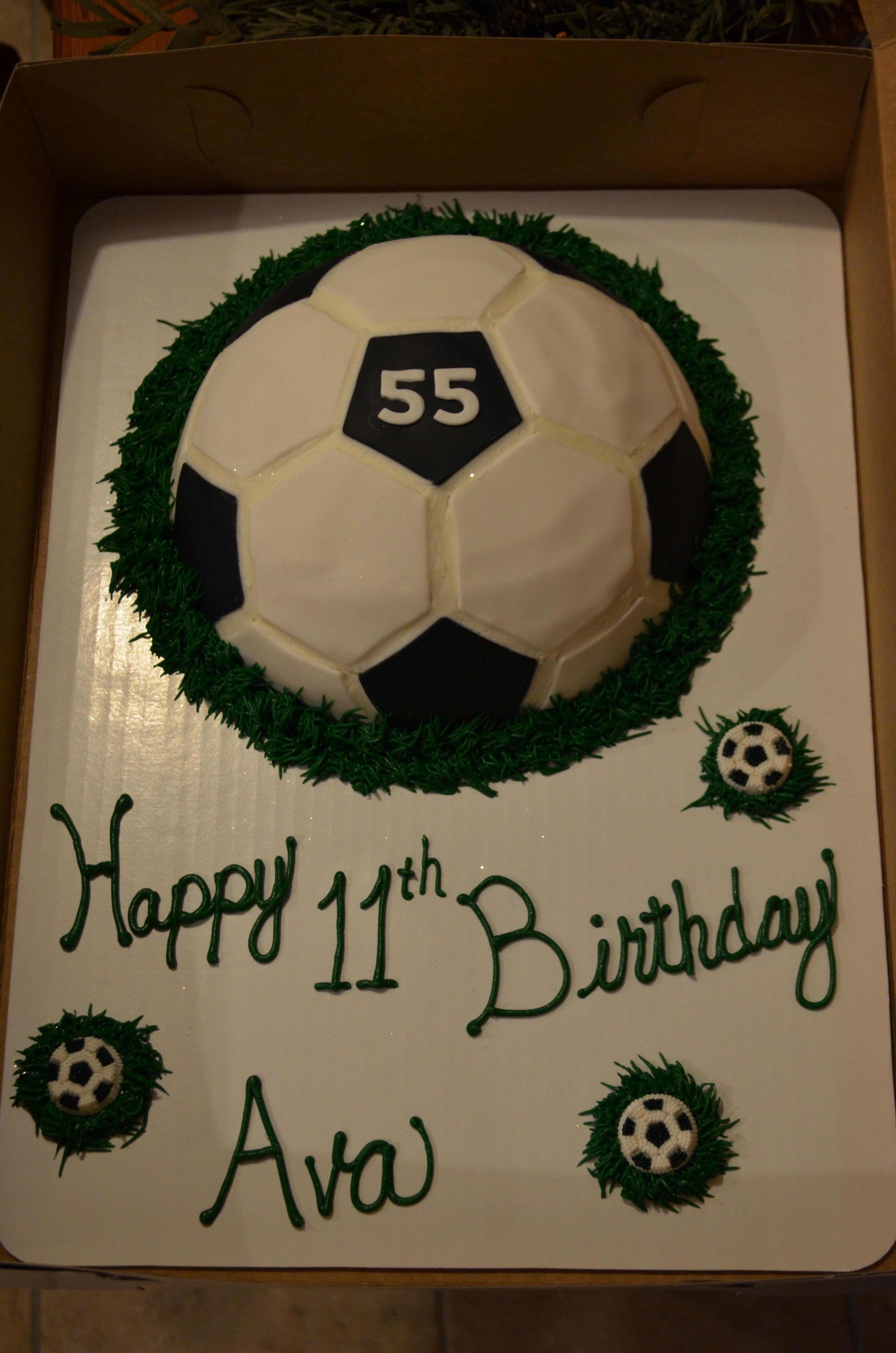 Fondant Soccer Cake 3