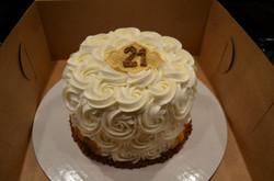 8 in White Rossette Cake