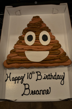 Poop Emoji CC Cake