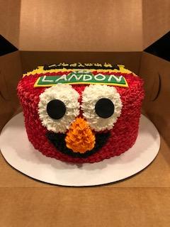 Elmo Cake Half