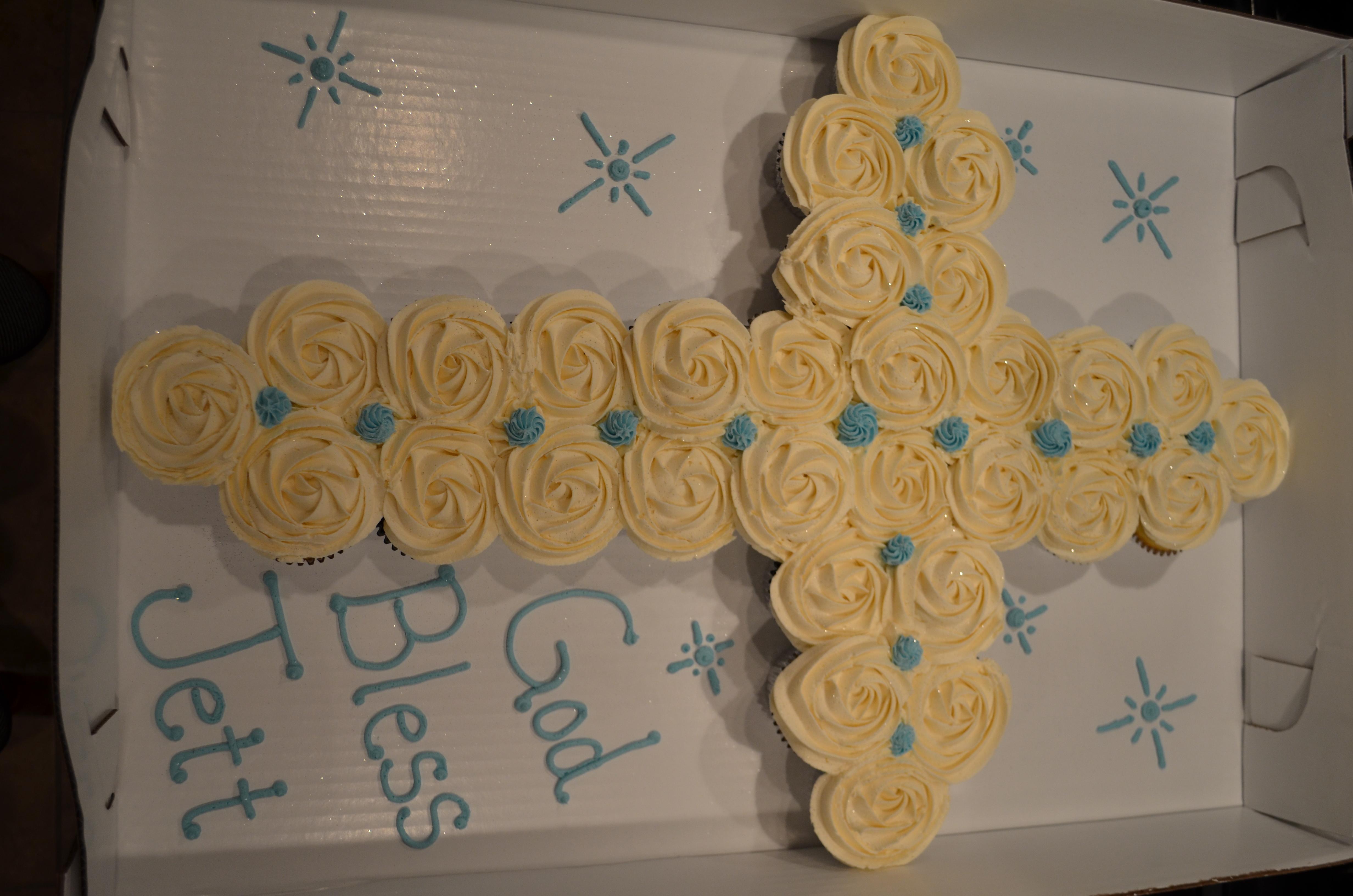 Blue Accent Cross CC Cake