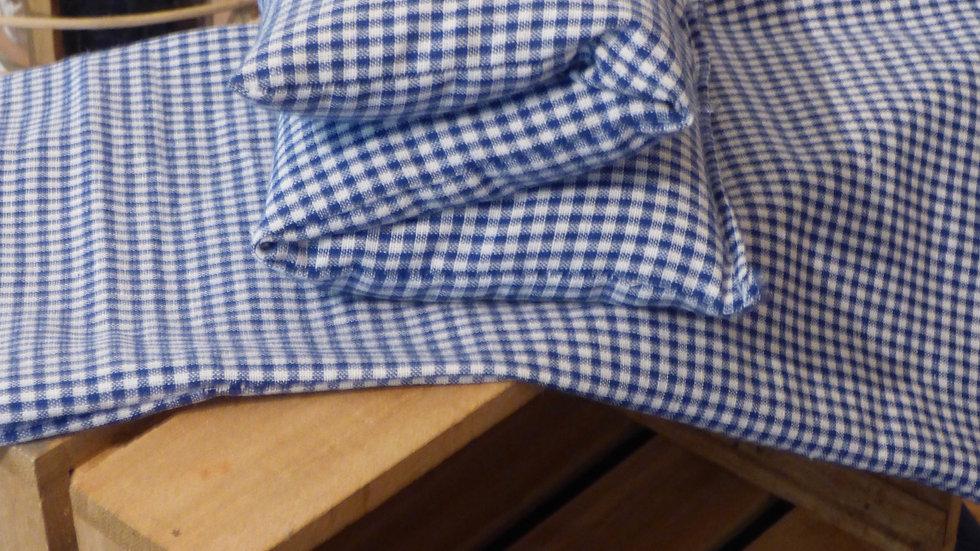 Bouillotte seche graine de lin modele Bluesy