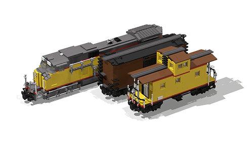 GE Dash 9-44CW + Boxcar 50' + Caboose