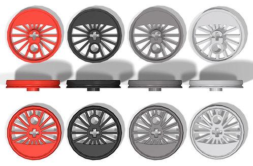 2x Eisenbahnrad Größe XL ohne Spurkranz und großer Schwungmasse