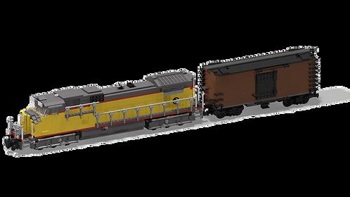 GE Dash 9-44CW + Boxcar 50'
