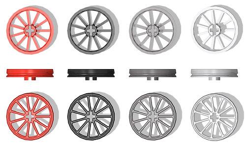 2x Eisenbahnrad Größe L ohne Spurkranz
