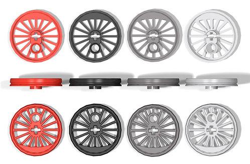 2x Eisenbahnrad Größe XL ohne Spurkranz und kleiner Schwungmasse