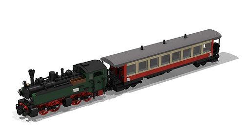 DR HK 94-100 + HSB Personenwagen
