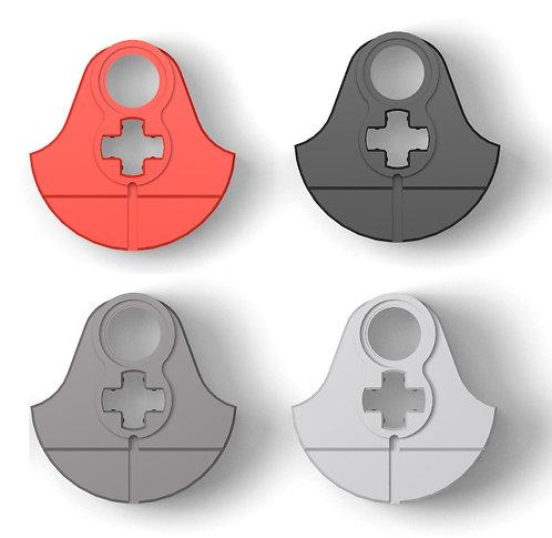 2x Blindwellen-Rad Größe M breites Design