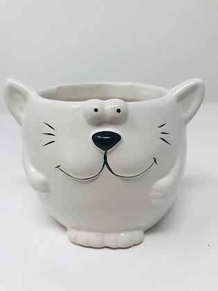 Cat Face Pot