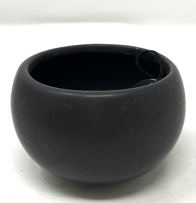 """2.5"""" Black ceramic pot"""