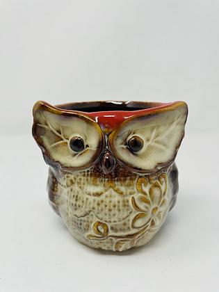Owl ceramic pot - 002